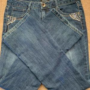 EUC  Squeeze Jeans - size 14 - sequins on pockets